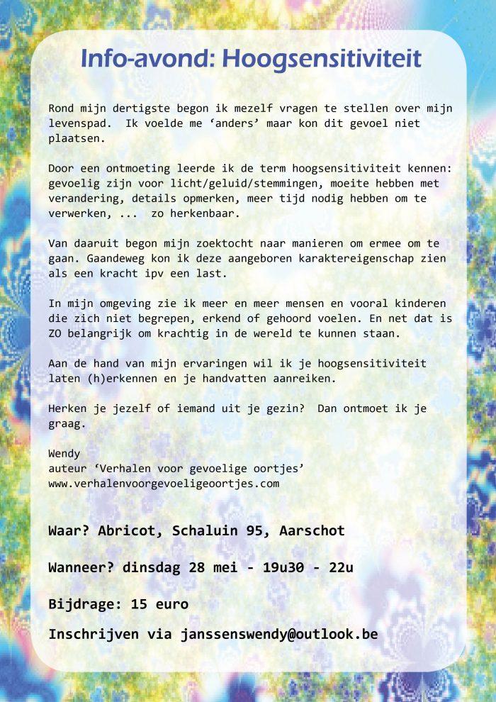 Lezing hoogsensitiviteit @ Den Abricot